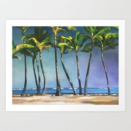 Palms Dancing Art Print