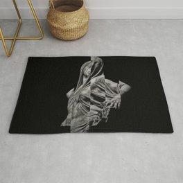 'Veiled Modesty' Contemporary Portrait by Jeanpaul Ferro Rug