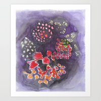 Viola (watercolor) Art Print