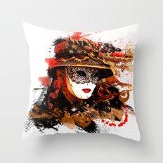 Mask 11 Throw Pillow