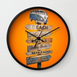 Pura Vida - Desire of summer holidays Wall Clock