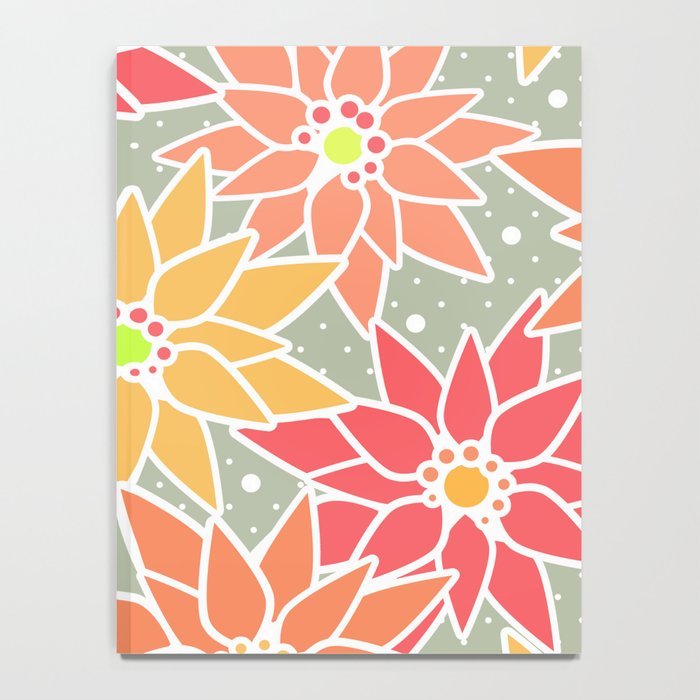 Poinsettia. Retro. Notebook