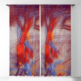 burning Heart Blackout Curtain