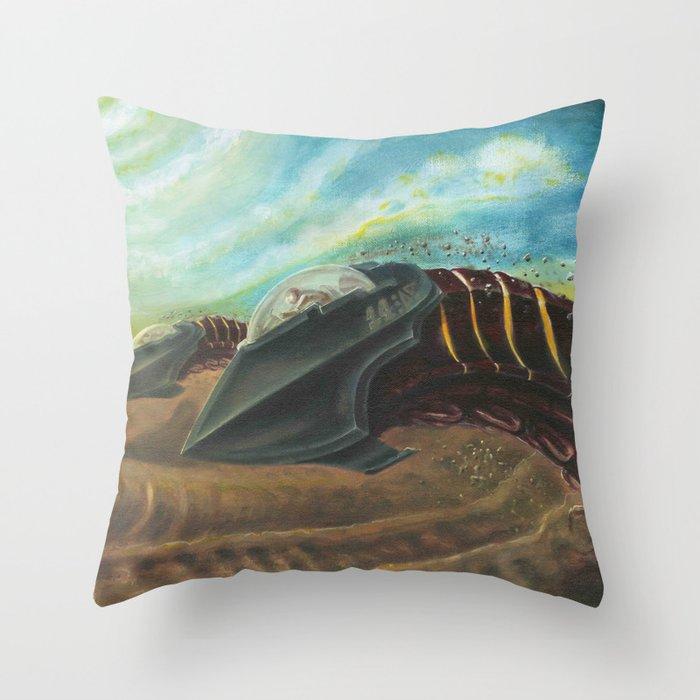 Sandworm Racers - Adam France Throw Pillow