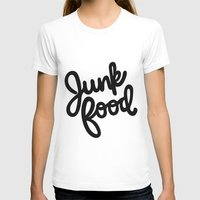 junk food T-shirts featuring Junk Food by mellanid