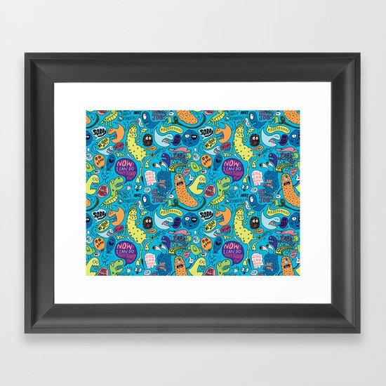 Gettin' Loose Pattern Framed Art Print