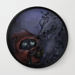 Bad Wolf meets Little Red Wall Clock