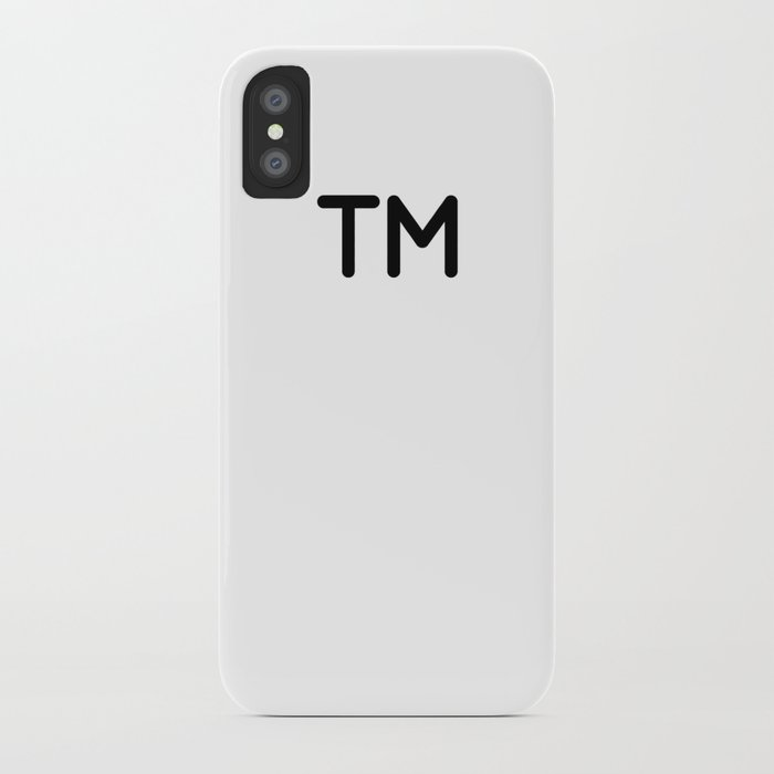Trademark Symbol Iphone Case By Benpeacock Society6
