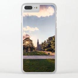 Photograph of Sunset Over the Rosenborg Castle in Copenhagen Clear iPhone Case