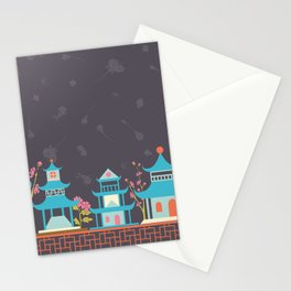 Chinoiserie border Stationery Cards