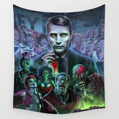 Hannibal Holocaust - They Live Return of the Living Dead Mads Mikkelsen Wall Tapestry