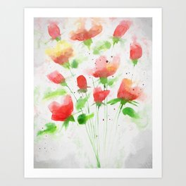 Almost Bouquet Art Print