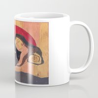 capricorn Mugs featuring Capricorn by Lea K Arts