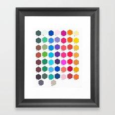 Hexagon Color Chart Framed Art Print