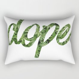 Dope Script Weed Rectangular Pillow