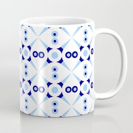 Symmetric patterns 141 Dark and light blue Coffee Mug