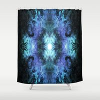 matrix Shower Curtains featuring Cosmic Matrix by WES EXOTIC IMAGERY