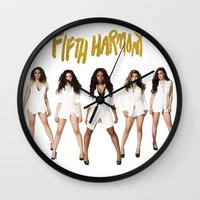 fifth harmony Wall Clocks featuring Fifth Harmony Boss by TSMM