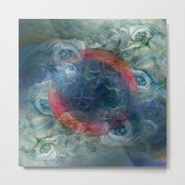 """""""Saturn's pink astral fluid"""" Metal Print"""