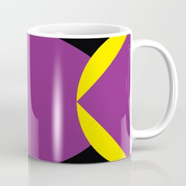 Two pyramids meeting at the oval center. Surrounded by yellow wings. Coffee Mug