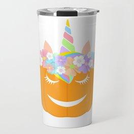 Unicorn pumpkin Travel Mug