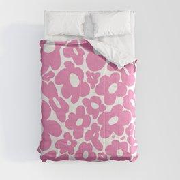 60s 70s Hippy Flowers Pink Comforters