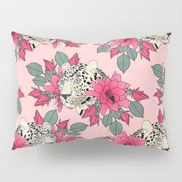 Classy cactus flowers and leopards design Pillow Sham
