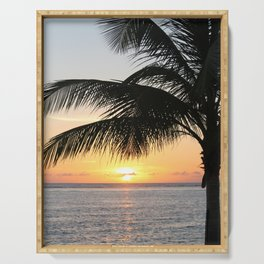 Sunrise and Palm Tree Serving Tray