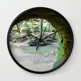 Cave View of Forest Wall Clock