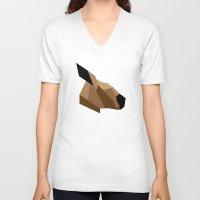 kangaroo V-neck T-shirts featuring Kangaroo by BMaw