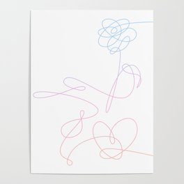 BTS Love Yourself Complete Flower Poster