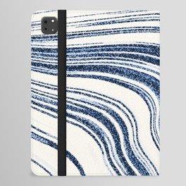 Textured Marble - Indigo Blue iPad Folio Case