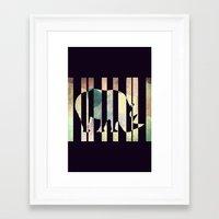 rhino Framed Art Prints featuring Rhino by Yasmina Baggili