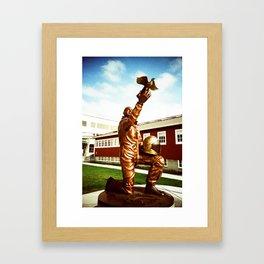 Honoring the flight of all things. Framed Art Print