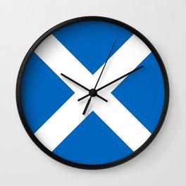 flag of scotland – scotland,scot,scottish,Glasgow,Edinburgh,Aberdeen,dundee,uk,cletic,celts,Gaelic Wall Clock