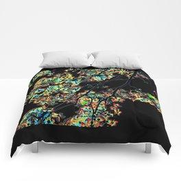 Mismatch Color Hatch Comforters