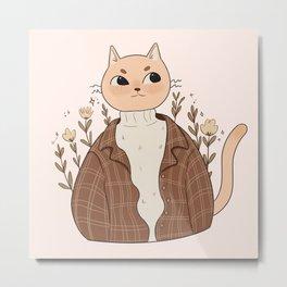 Meowci Fashion Stylish Cat Metal Print