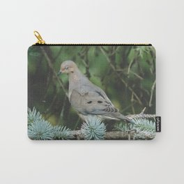 Mourning Dove in Blue Spruce Carry-All Pouch