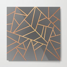 Copper And Grey Metal Print
