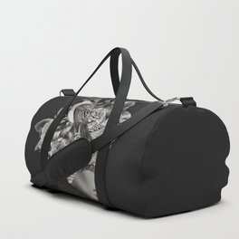 Lady with Birds(portrait) Duffle Bag