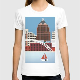 Rochester, New York - Skyline Illustration by Loose Petals T-shirt