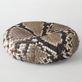 Faux Python Snake Skin Design Floor Pillow