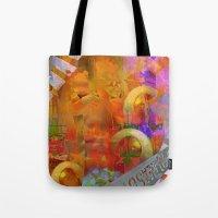 weird Tote Bags featuring Weird by Ganech joe