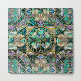 Web of Wyrd The Matrix of Fate -Abalone Shell Metal Print