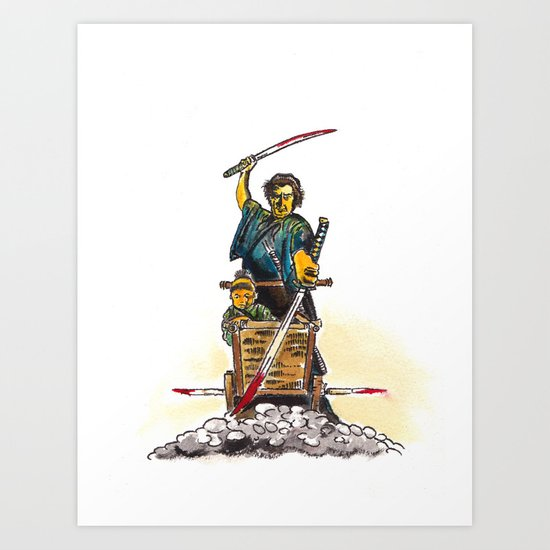 Shogun Assassin Baby Cart Art Print
