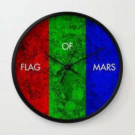 THE FLAG OF MARS Wall Clock