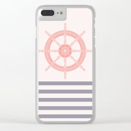 AFE Nautical Helm Wheel 2019 -5 Clear iPhone Case