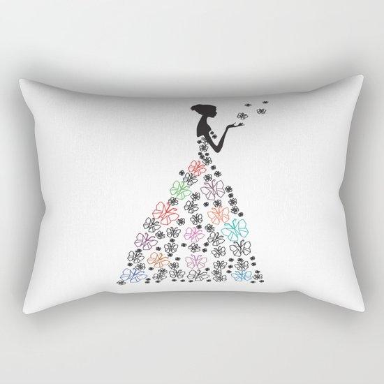Origami Butterfly Dress No. 1 Rectangular Pillow