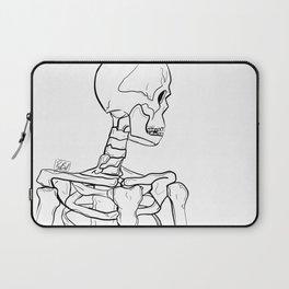 Cautious in Death (line art) Laptop Sleeve