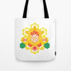 Yellow Lotus Rose Tote Bag